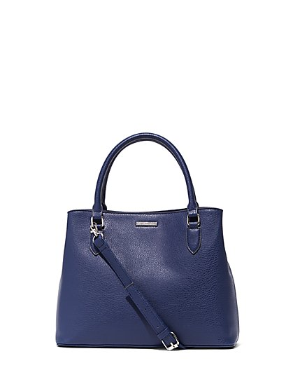 Scarf-Accent Top-Handle Tote Bag - New York & Company
