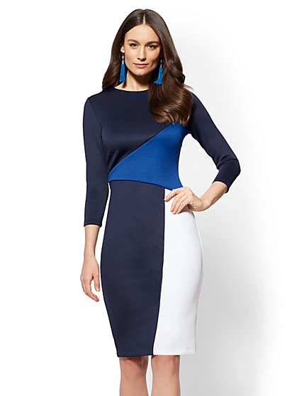 Sheath Dress - Colorblock - New York & Company