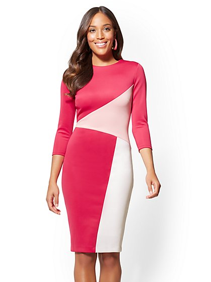 Sheath Dress - Colorblock - New York & Company