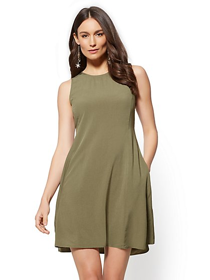 Sleeveless Shift Dress - New York & Company