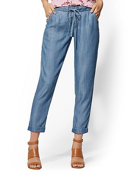 Soft Ankle Pant - Surf Blue - New York & Company