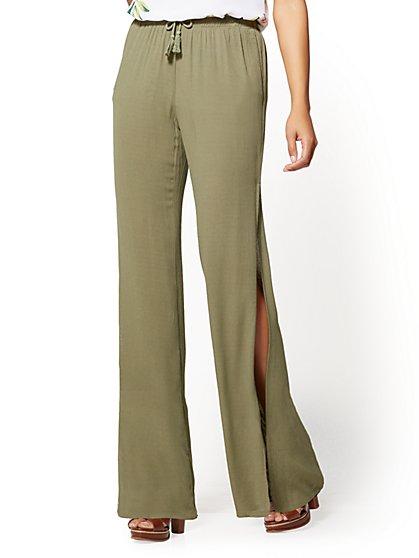 Soft Drawstring-Tie Pant - New York & Company