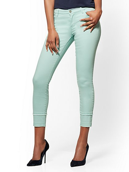 Soho Jeans - Aqua Released-Hem Ankle Legging - New York & Company