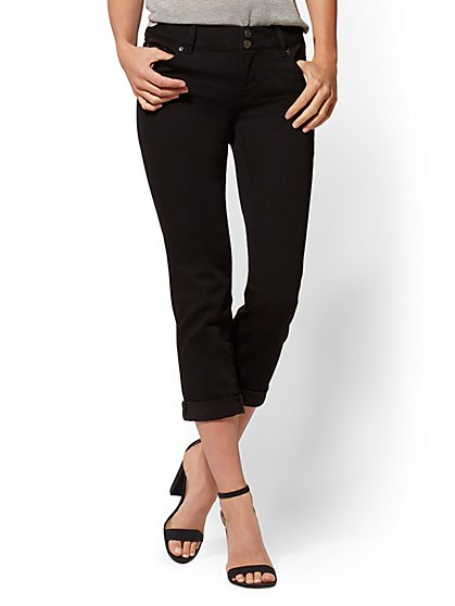 Soho Jeans - Black Crop Boyfriend - New York & Company