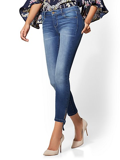 Soho Jeans - Bow-Detail Ankle - Indigo Blue Wash - New York & Company