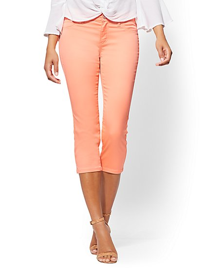 Soho Jeans - Coral Crop Legging - New York & Company