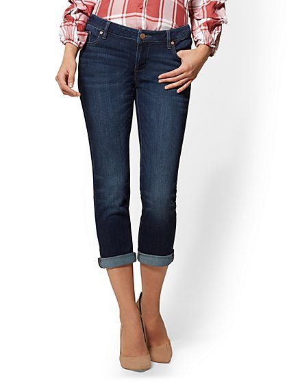 Soho Jeans - Crop Boyfriend - Blueberry Wash - New York & Company