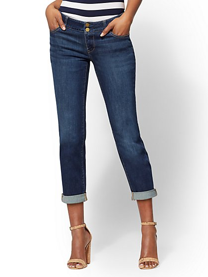 Soho Jeans - Crop Boyfriend - Flawless Blue Wash - New York & Company