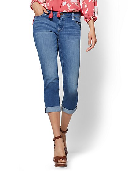 Soho Jeans - Crop Boyfriend - Sunset Blue Wash - New York & Company