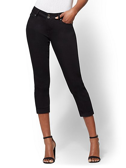 Soho Jeans - Curvy Crop Boyfriend - Black - New York & Company