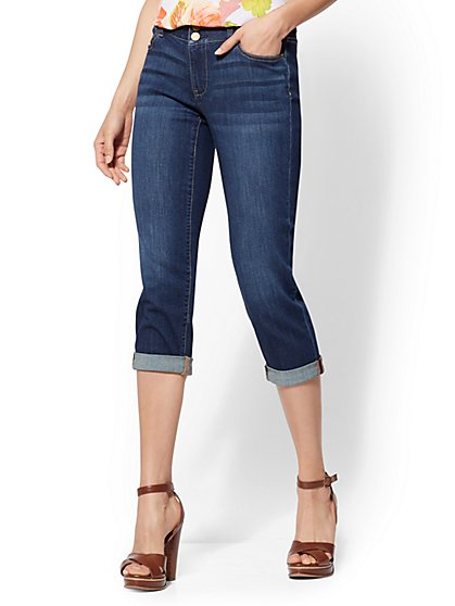 Soho Jeans - Curvy Crop Boyfriend - Flawless Blue Wash - New York & Company