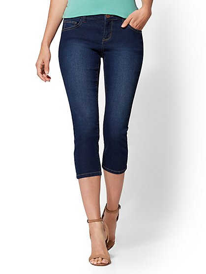 Soho Jeans - Curvy Crop Legging - Blue Honey Wash - New York & Company