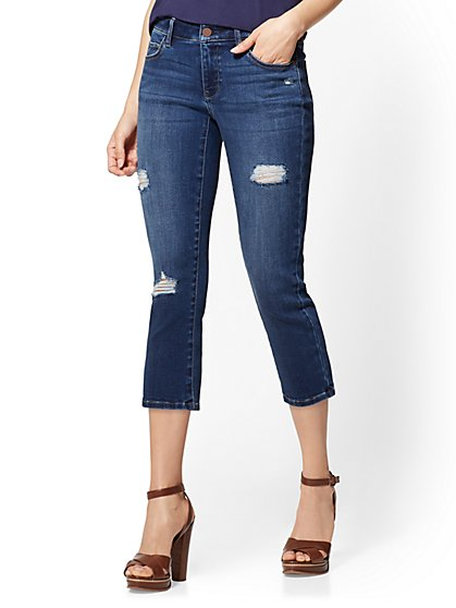 Soho Jeans - Curvy Crop Legging - Force Blue - New York & Company