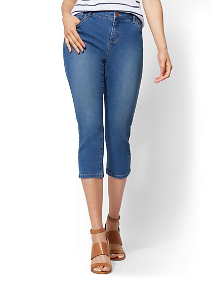 Soho Jeans - Curvy Crop Legging - Razor Blue - New York & Company