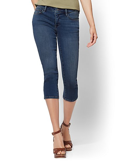 Soho Jeans - Curvy Crop Legging - Tranquil Blue - New York & Company