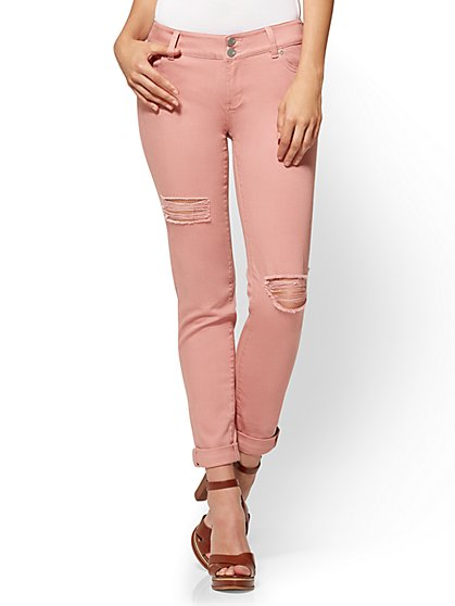 Soho Jeans - Destroyed Boyfriend - Blush - New York & Company