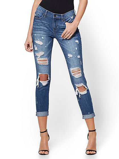 Soho Jeans - Destroyed Boyfriend - Dark Wash - New York & Company