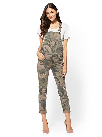 Soho Jeans - Destroyed Camo Overall - New York & Company