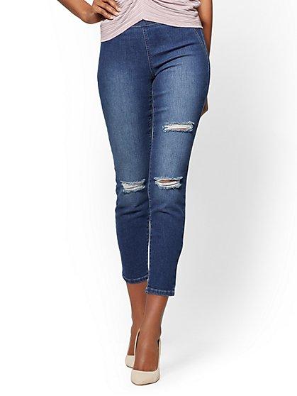 Soho Jeans – Destroyed High-Waist Pull-On Legging - New York & Company