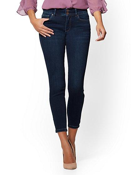 Soho Jeans - High-Waist Curvy Ankle Legging - Highland Blue Wash - New York & Company