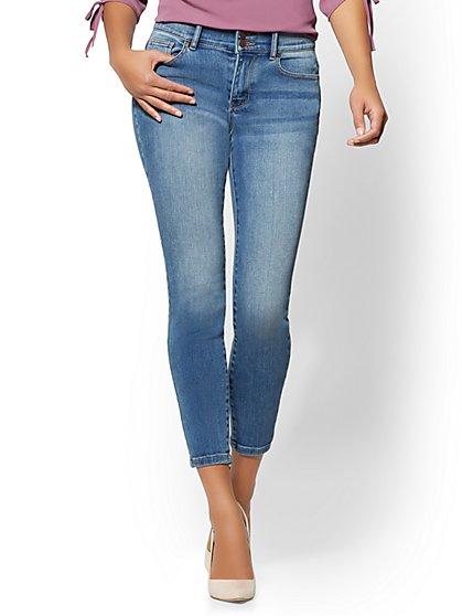 Soho Jeans - High-Waist Curvy Ankle Legging - Stargaze Blue Wash - New York & Company