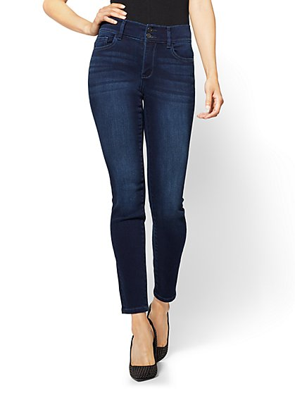 Soho Jeans - High-Waist Curvy Legging - Endless Blue - New York & Company