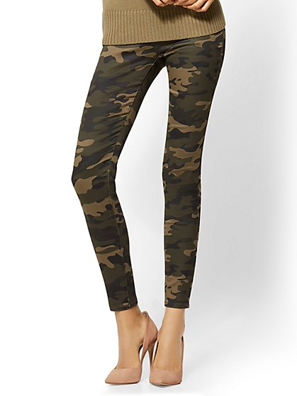 Soho Jeans - High-Waist Pull-On Ankle Legging - Camouflage Print - New York & Company