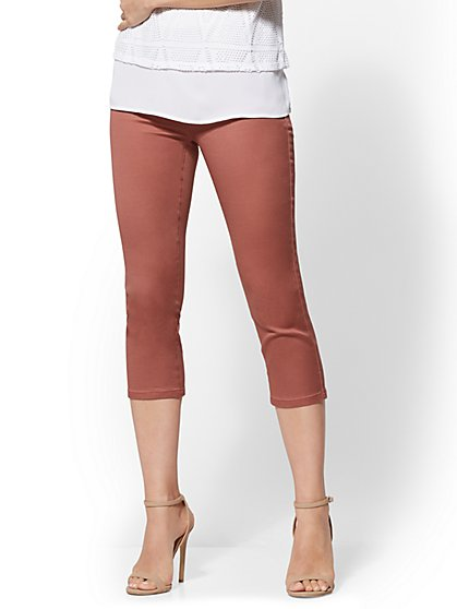Soho Jeans - High-Waist Pull-On Crop Legging - New York & Company