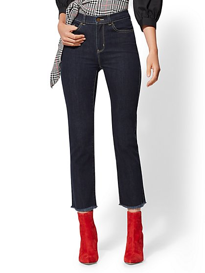 Soho Jeans - High-Waist Straight Ankle Legging - Rinse - New York & Company