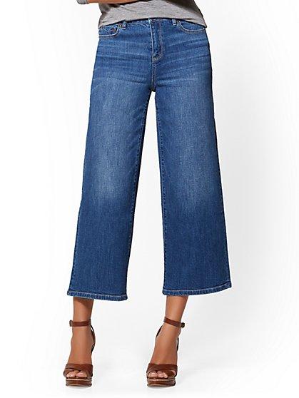 Soho Jeans - High-Waist Wide Leg - Sunset Blue Wash - New York & Company