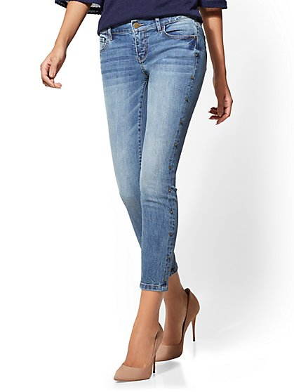 Soho Jeans - Jewel Studded Ankle - New York & Company