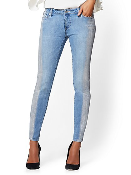 Soho Jeans - Metallic Foil Boyfriend - Lightning Blue Wash - New York & Company