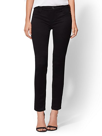 Soho Jeans - Mid-Rise Legging - Crosby - Black - New York & Company