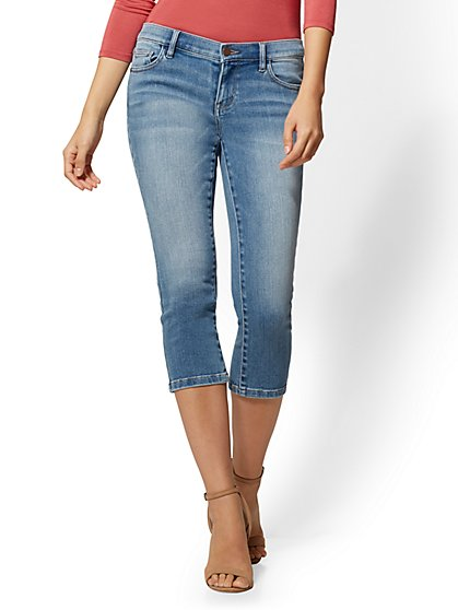 Soho Jeans - NY&C Runway - Super Stretch - Crop Legging - Duchess Blue - New York & Company