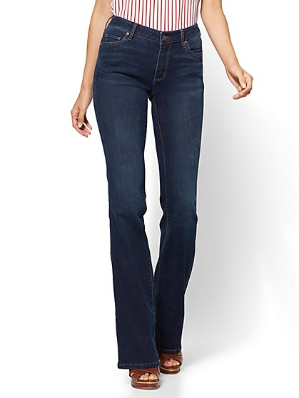 Soho Jeans - Petite Curvy Bootcut - Highland Blue Wash - New York & Company