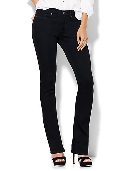 Soho Jeans - Petite Instantly Slimming Bootcut - Black - New York & Company