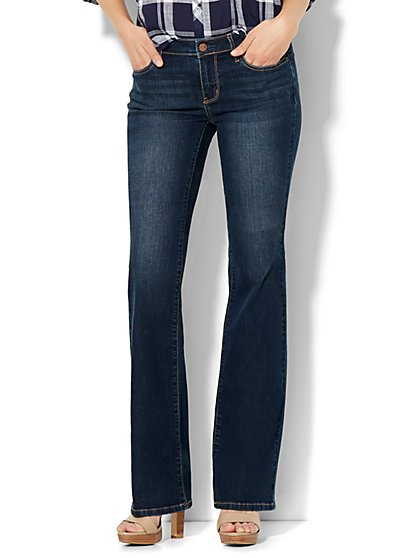 Soho Jeans - Petite Instantly Slimming - Curvy Bootcut - Flawless Blue Wash - New York & Company