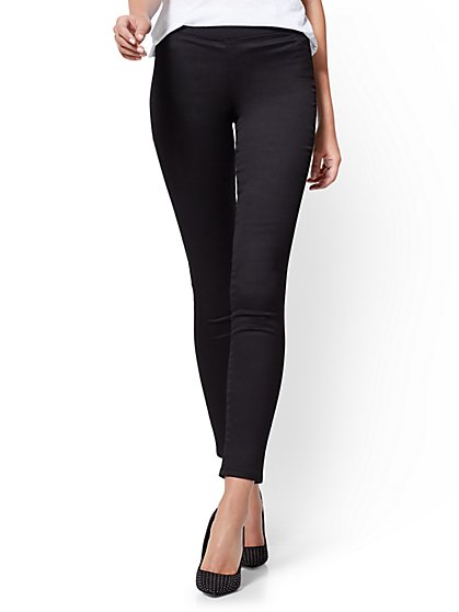 Soho Jeans - Petite Pull-On High-Waist Legging - New York & Company