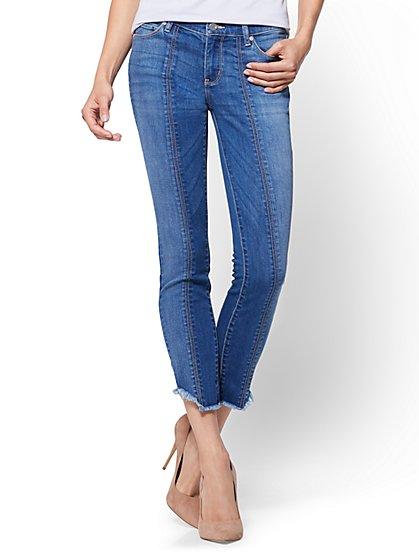 Soho Jeans - Seamed Ankle Legging - Cheeky Blue Wash - New York & Company