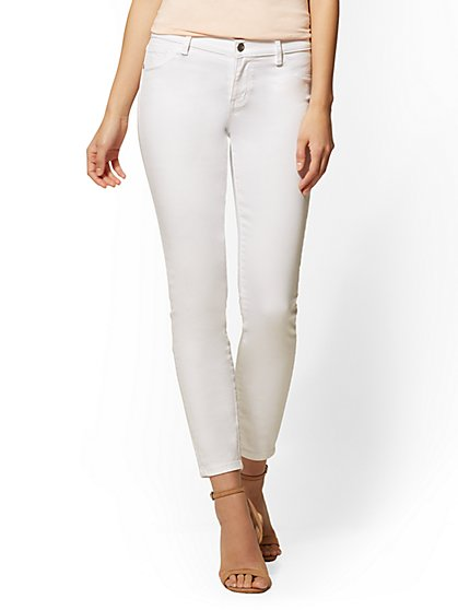 Soho Jeans - White Ankle Legging - New York & Company