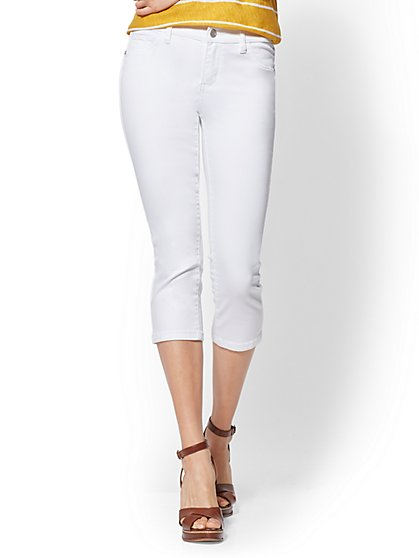 Soho Jeans - White Crop Legging - New York & Company