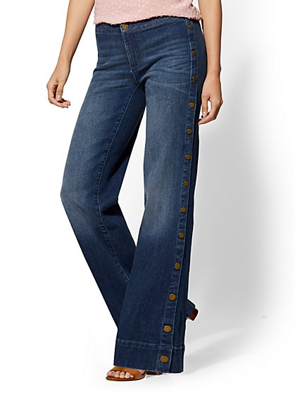 Soho Jeans - Wide Leg - Indigo - New York & Company