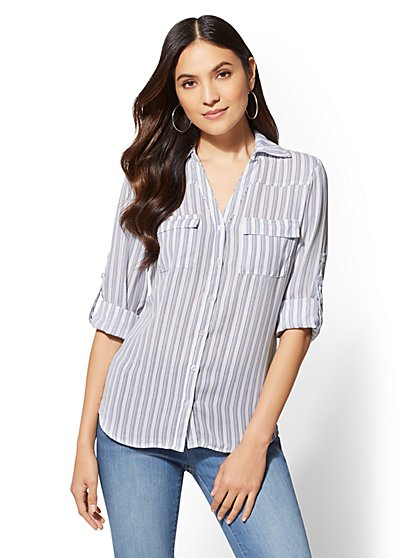 Soho Soft Shirt - Stripe - New York & Company