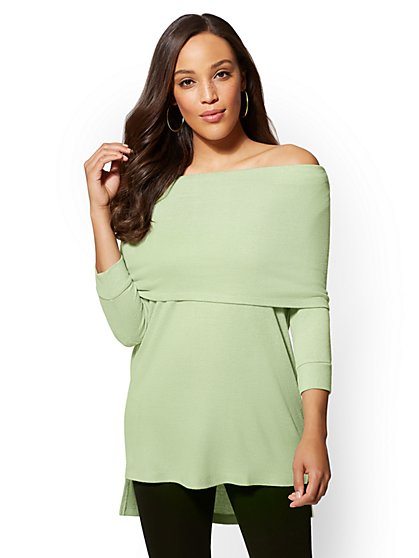 Soho Street - Convertible Tunic Top - New York & Company