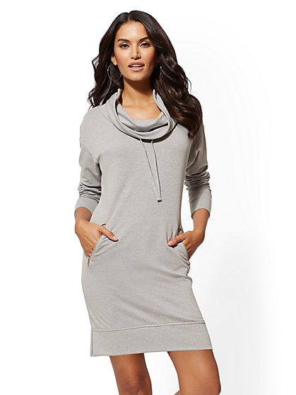 Soho Street - Cowl-Neck Sweatshirt Dress - New York & Company
