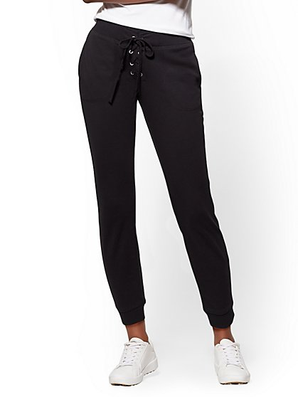 Soho Street - Grommet Lace-Up Crop Jogger - New York & Company