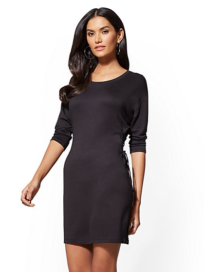Soho Street - Grommet Side Lace-Up Shift Dress - New York & Company