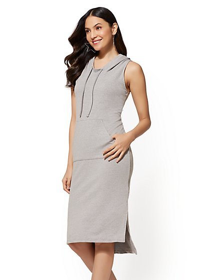 Soho Street - Hooded Shift Dress - New York & Company