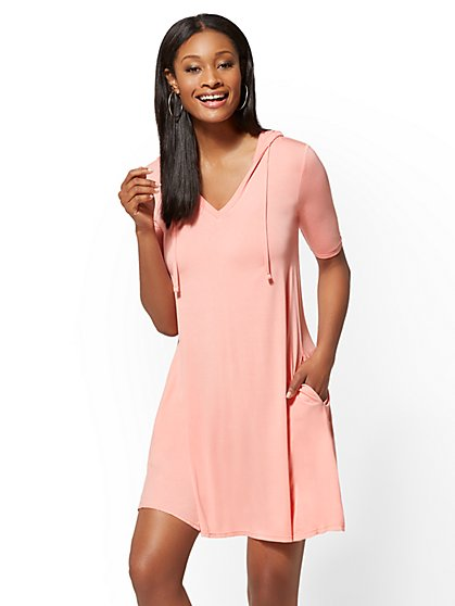 Soho Street - Hooded Swing Dress - New York & Company