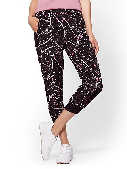 Soho Street - Paint-Splattered Slim Jogger - New York & Company